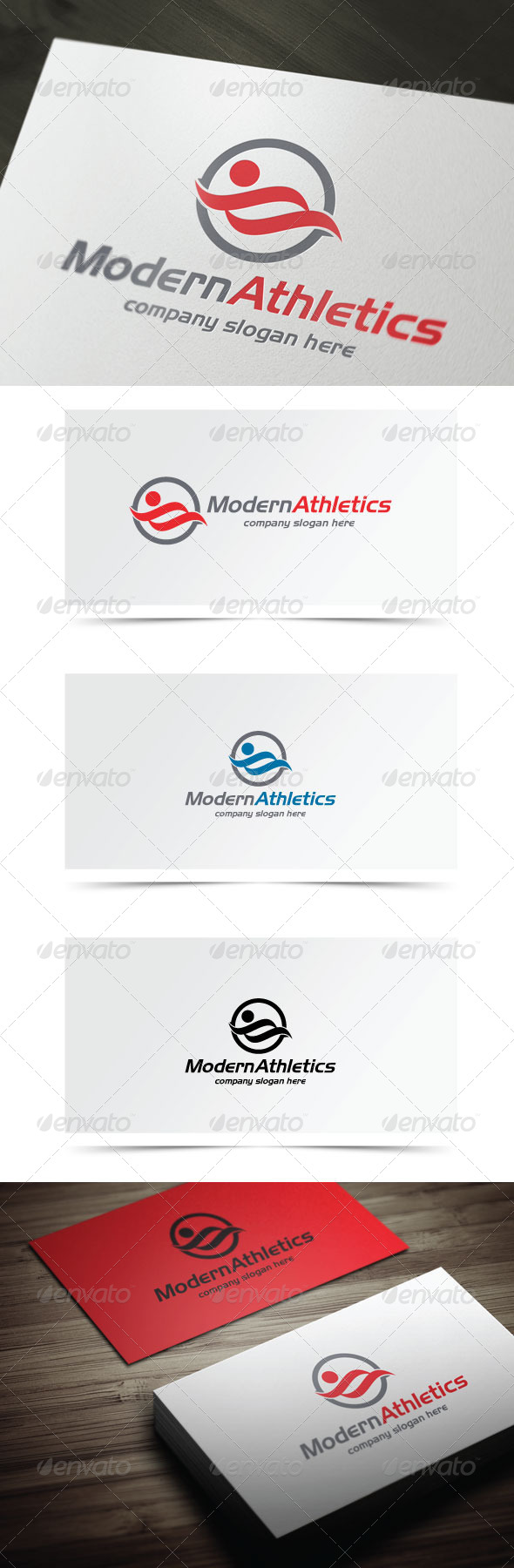 Modern Athletics  - Humans Logo Templates