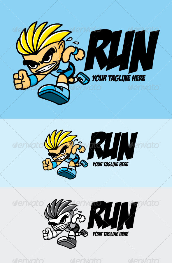 Run - Humans Logo Templates