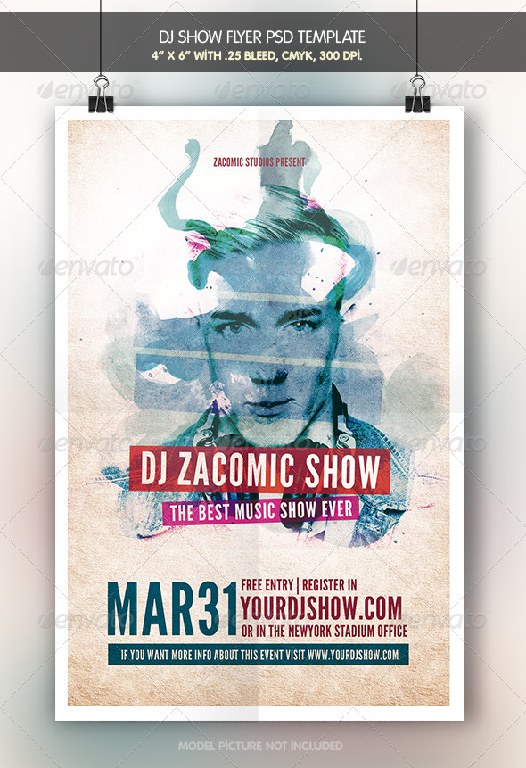 Dj Show | Flyer Template - Clubs & Parties Events