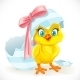 Baby Chick Just Hatched From an Easter Egg - GraphicRiver Item for Sale