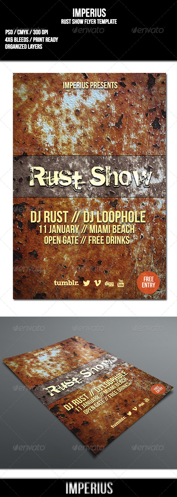 Rust Show Flyer - Flyers Print Templates