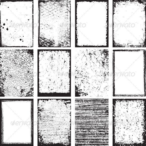 Vector Grunge Backgrounds and Frames - Backgrounds Decorative