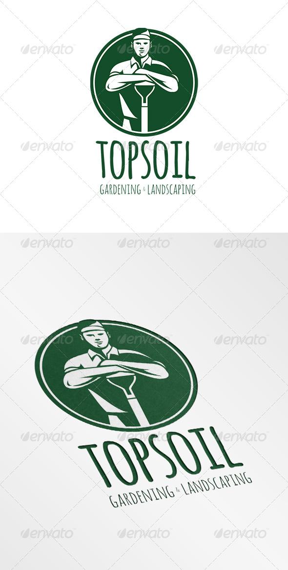 Top Soil Gardening and Landscaping Logo - Humans Logo Templates
