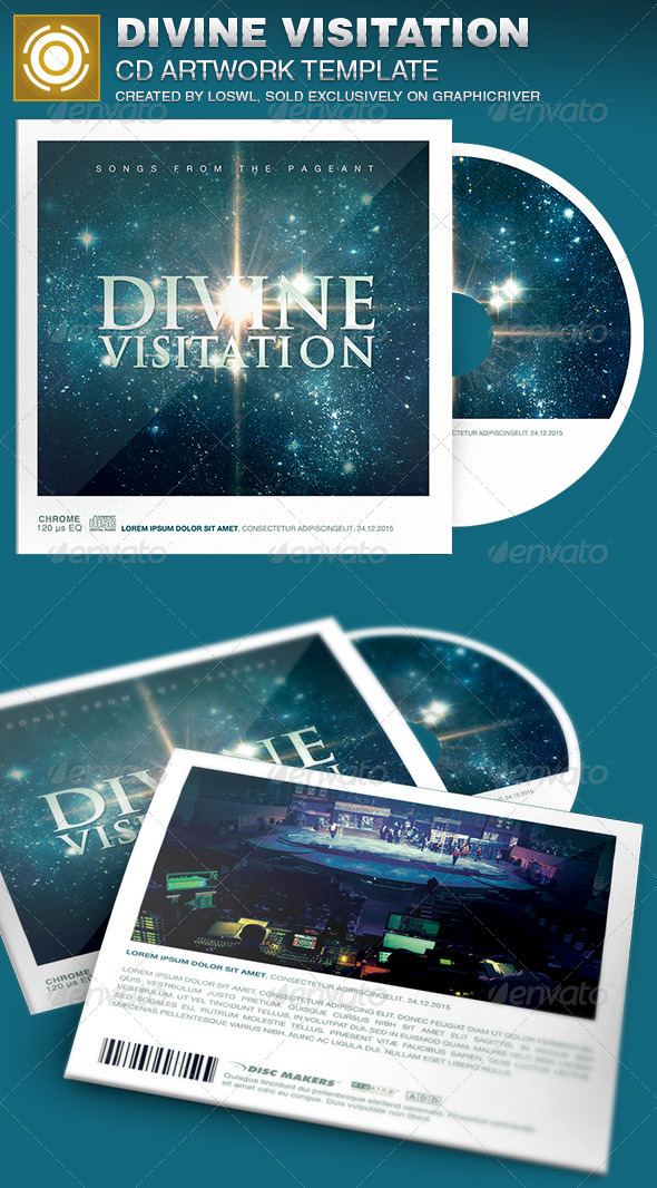 Divine Visitation CD Artwork Template - CD & DVD Artwork Print Templates