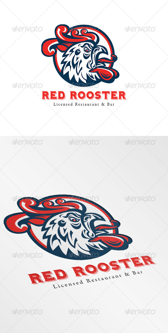 Rooster Restaurant and Bar Logo - Restaurant Logo Templates