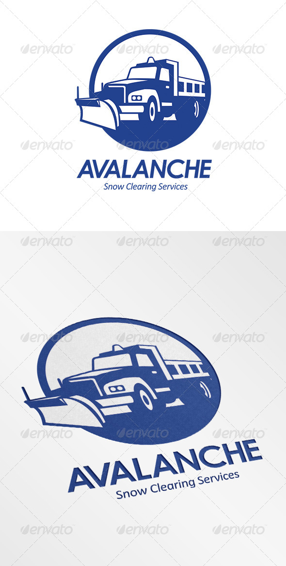 Avalanche Snow Removal Services Logo - Objects Logo Templates