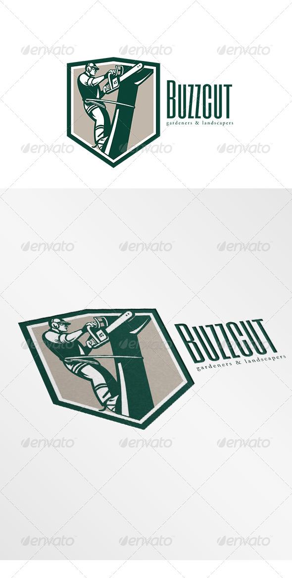 Buzz Cut Gardening Landscaper Logo - Humans Logo Templates