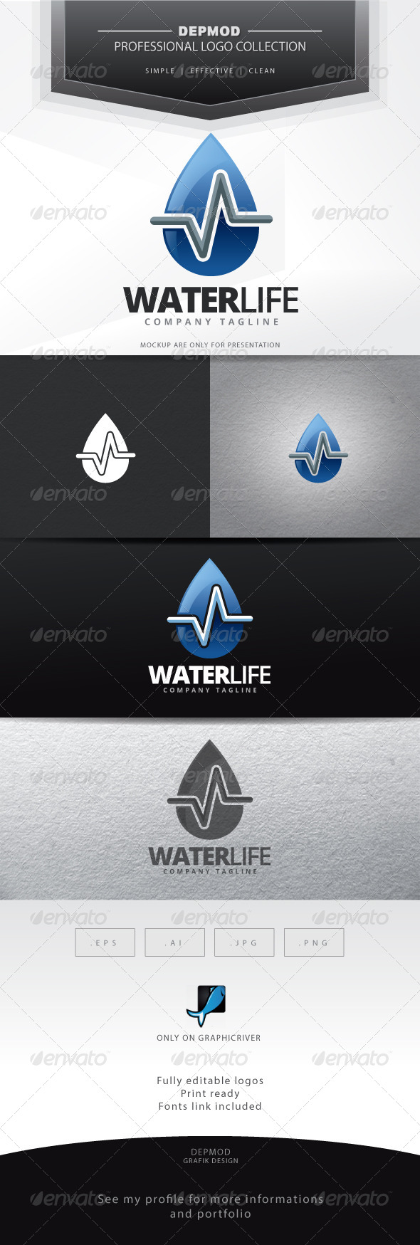 Water Life Logo - Symbols Logo Templates
