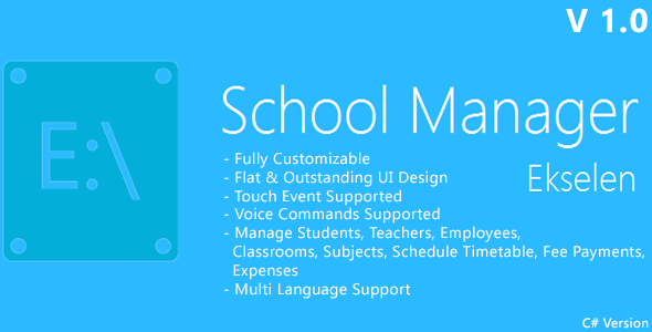 Ekselen - School Management System - CS Version - CodeCanyon Item for Sale