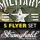 Download Vintage Military Flyer Template Bundle from GraphicRiver