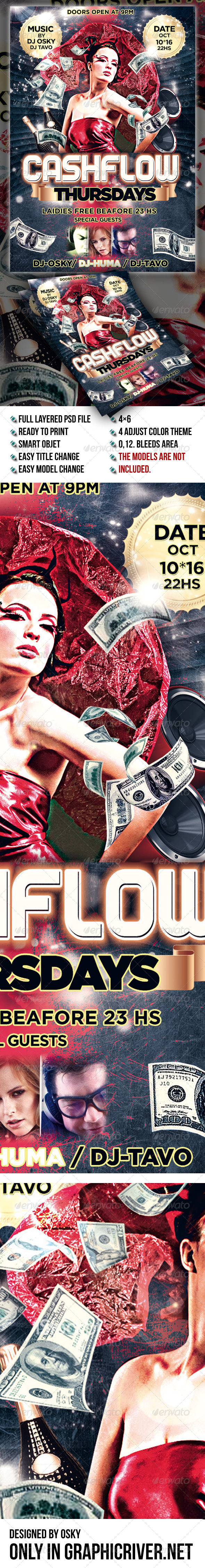 Cashflow Thursdays Flyer - Clubs & Parties Events