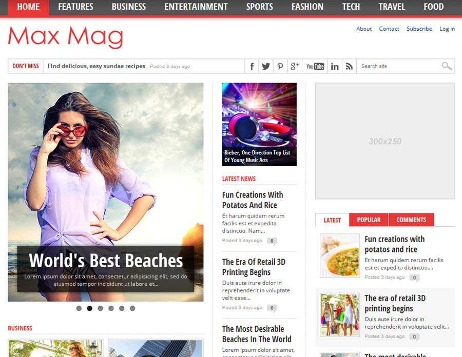 Max Mag - Responsive Wordpress Magazine Theme by MVPThemes | ThemeForest