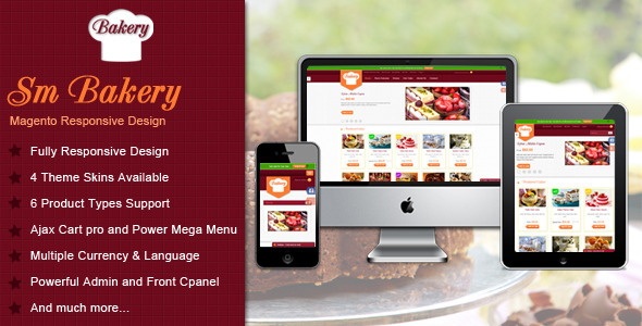 Responsive Multi-Purpose Magento Theme – SM Bakery