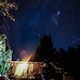 House on a Hill Looking at Stars - VideoHive Item for Sale