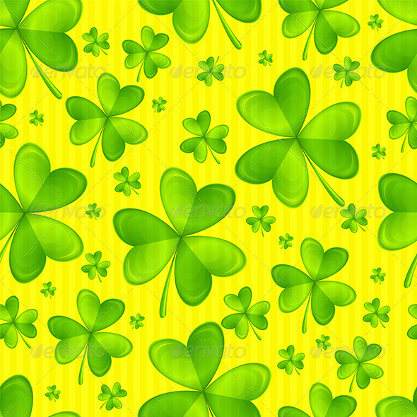 Seamless Texture Shamrock - Backgrounds Decorative