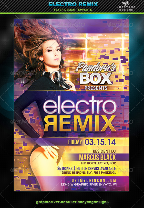 Electro Remix Flyer - Clubs & Parties Events