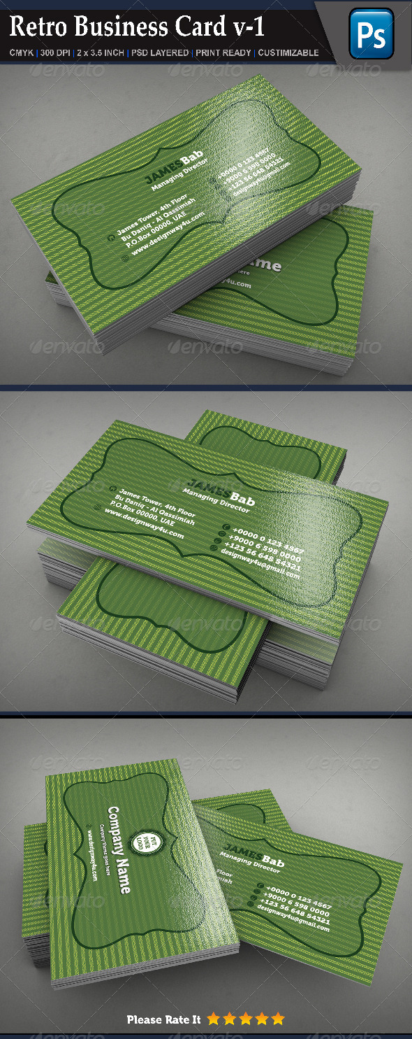 Retro Business Card v-1 - Retro/Vintage Business Cards