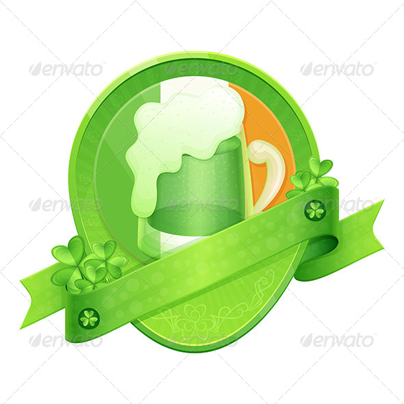 Sticker Green Beer St Patrick's Day - Decorative Vectors