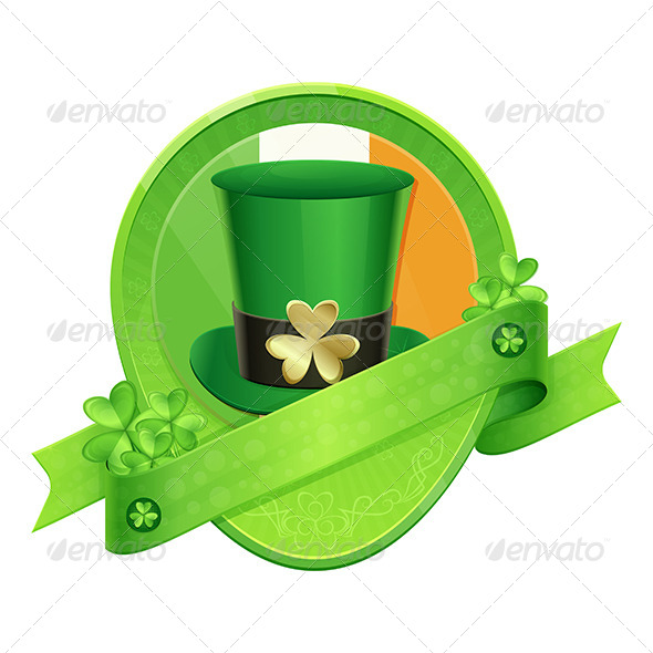Sticker Green Cylinder St Patrick's Day - Decorative Vectors