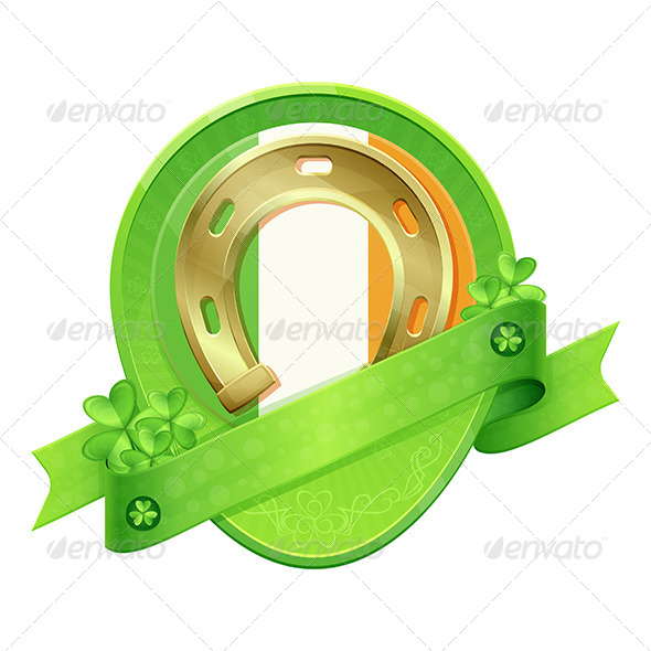 Sticker Horseshoe St Patrick's Day - Decorative Vectors