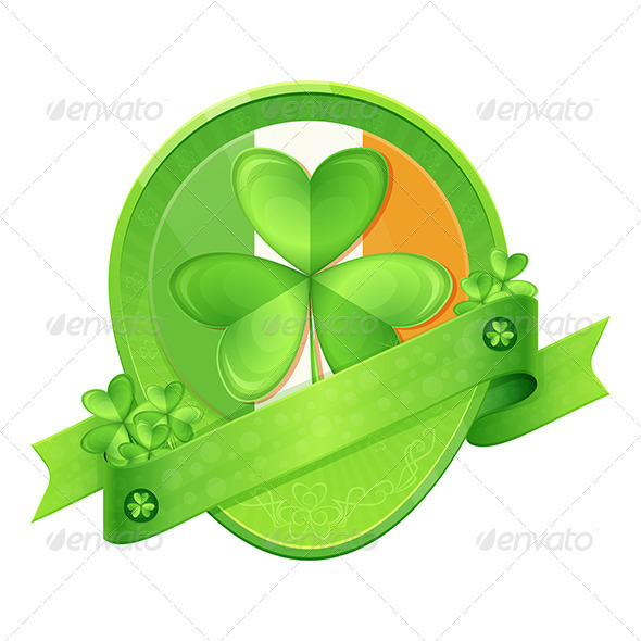 Sticker Shamrock St Patrick's Day - Decorative Vectors