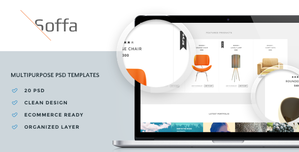 Soffa – Multipurpose PSD Templates