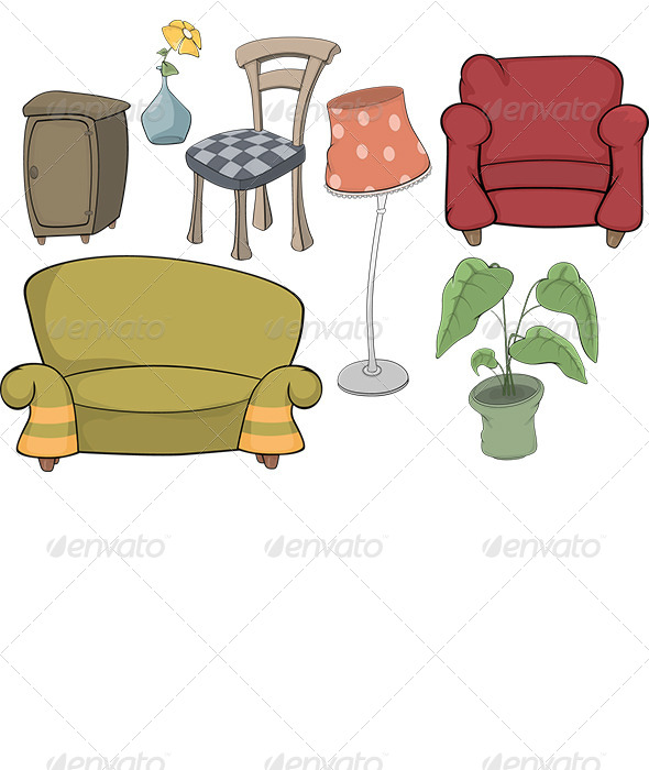 Set of Furniture - Objects Vectors