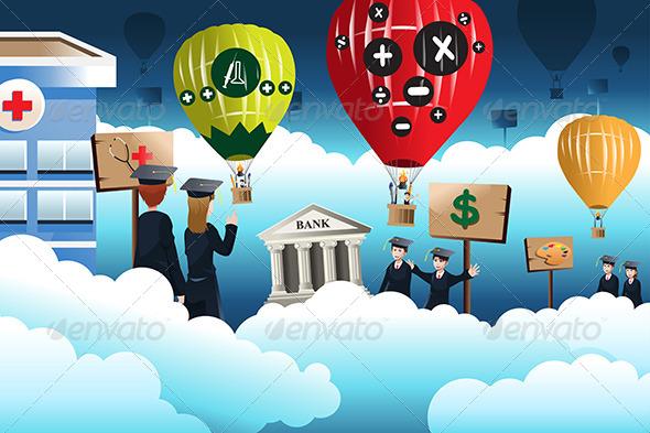 Education Concept - Conceptual Vectors
