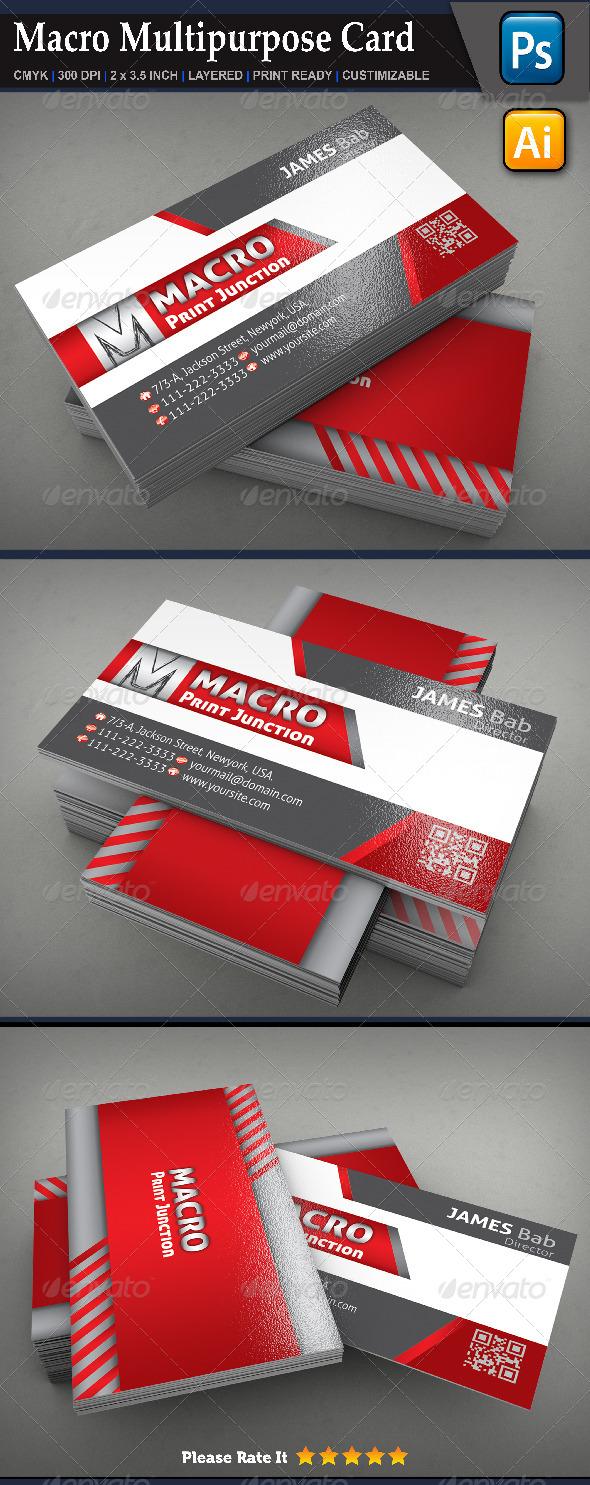 Macro Multipurpose Card - Creative Business Cards