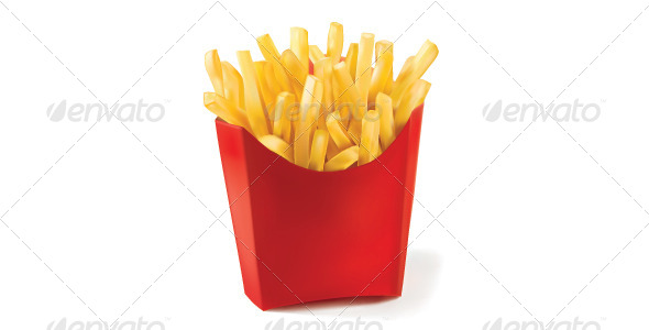 French Fries - Food Objects