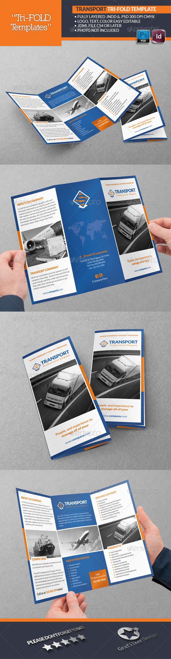 Transport Tri-Fold Templates - Brochures Print Templates