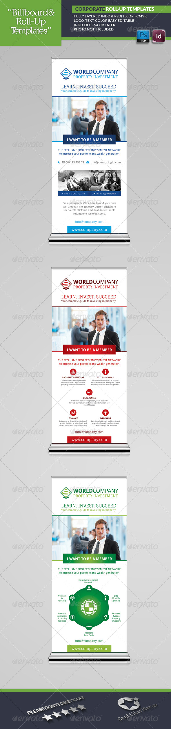 Corporate Roll-Up Templates - Signage Print Templates
