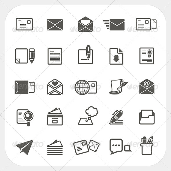 Mail Icons Set - Communications Technology