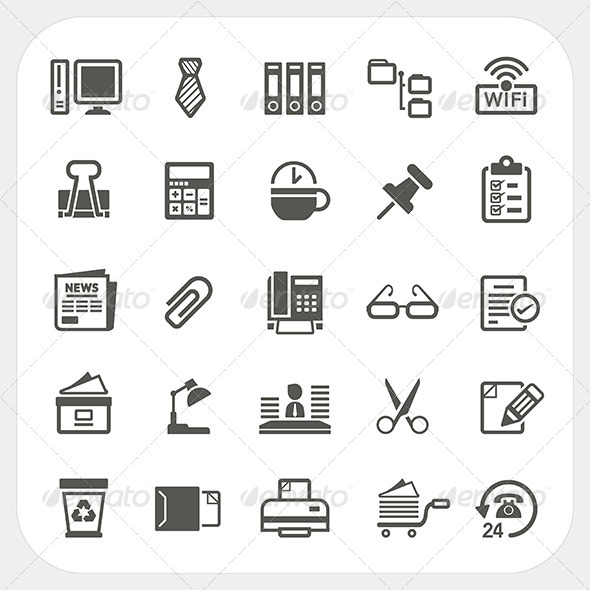 Business and Office Icons Set - Concepts Business