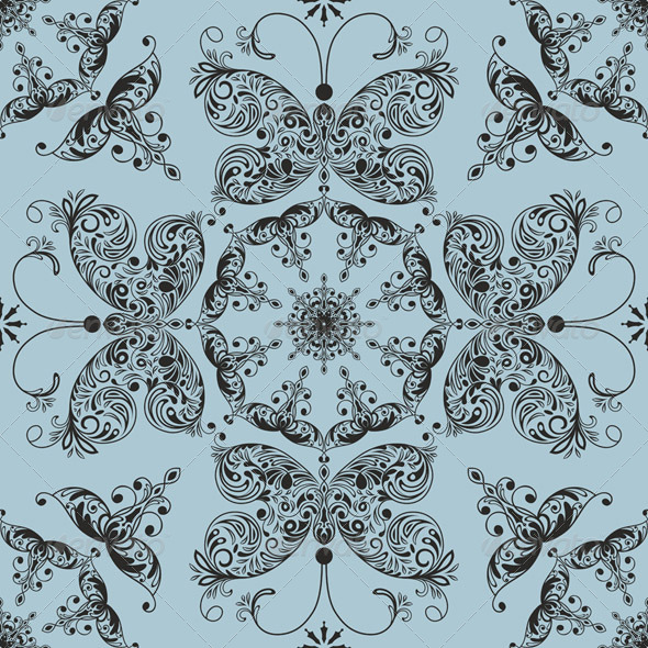 Vector Floral Seamless Spring Pattern  - Patterns Decorative