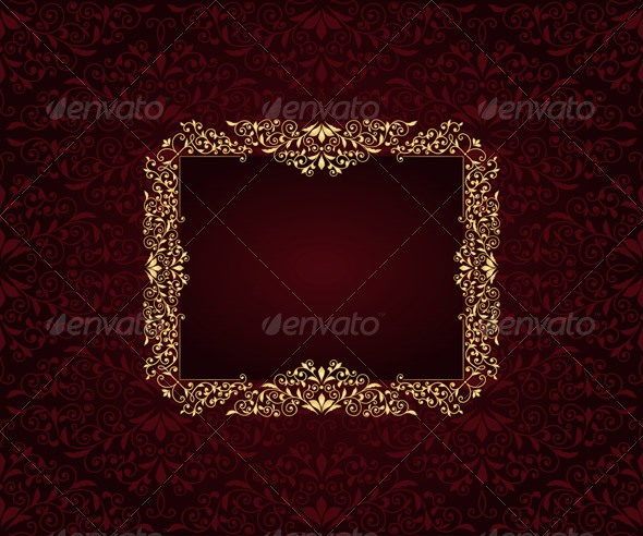 Vector Greeting Card  - Patterns Decorative