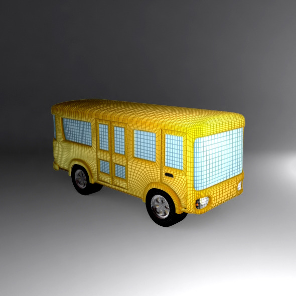 Cartoon Bus - 3DOcean Item for Sale
