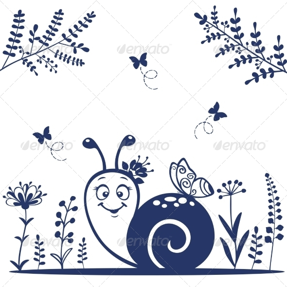 Snail Silhouette - Miscellaneous Characters