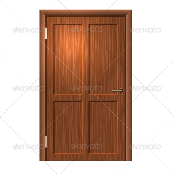 Realistic Wood Door - Buildings Objects