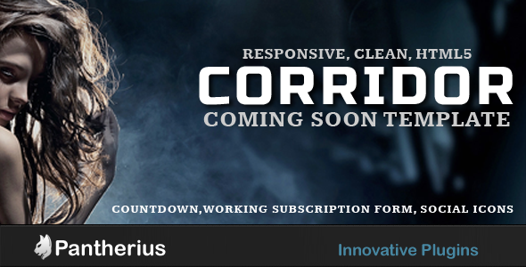 Corridor - Responsive, Clean, Coming Soon Template - Under Construction Specialty Pages