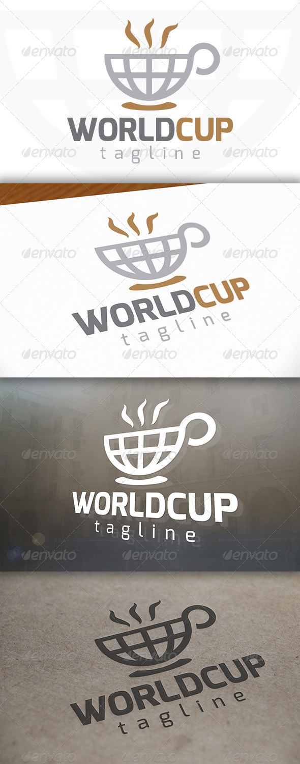 Coffee World Logo - Objects Logo Templates