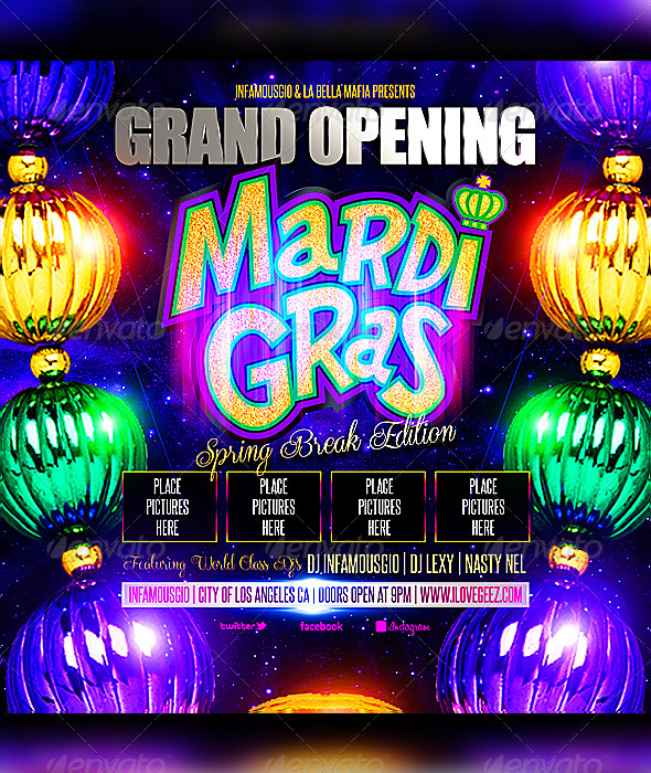 Mardi Gras 1 - Clubs & Parties Events
