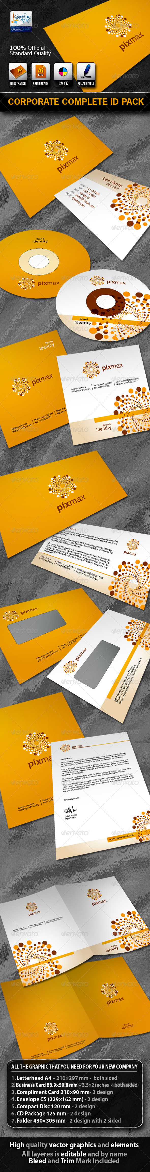 PixMax Business Corporate ID Pack With Logo - Stationery Print Templates