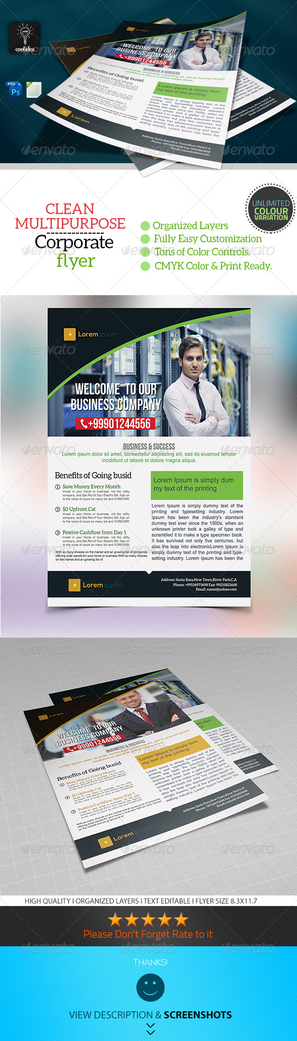 Corporate Flyer Template Business Vol04 - Corporate Flyers