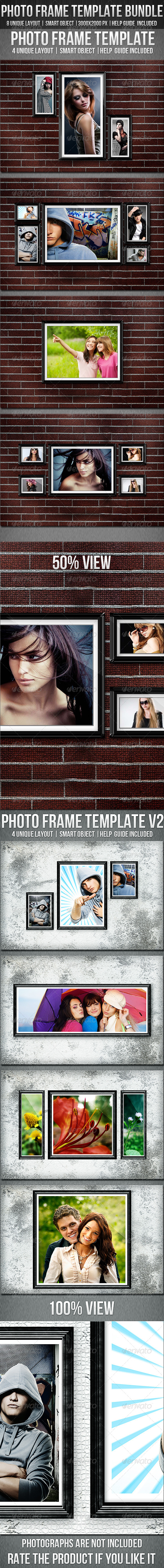 Photo Frame Template Bundle  - Photo Templates Graphics