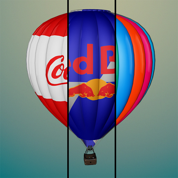 Air Balloon - 3DOcean Item for Sale