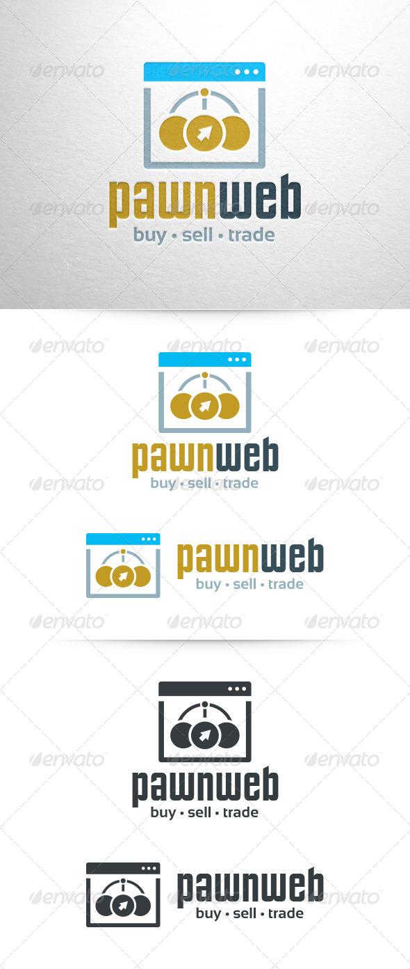 Pawn Web Logo Template - Symbols Logo Templates