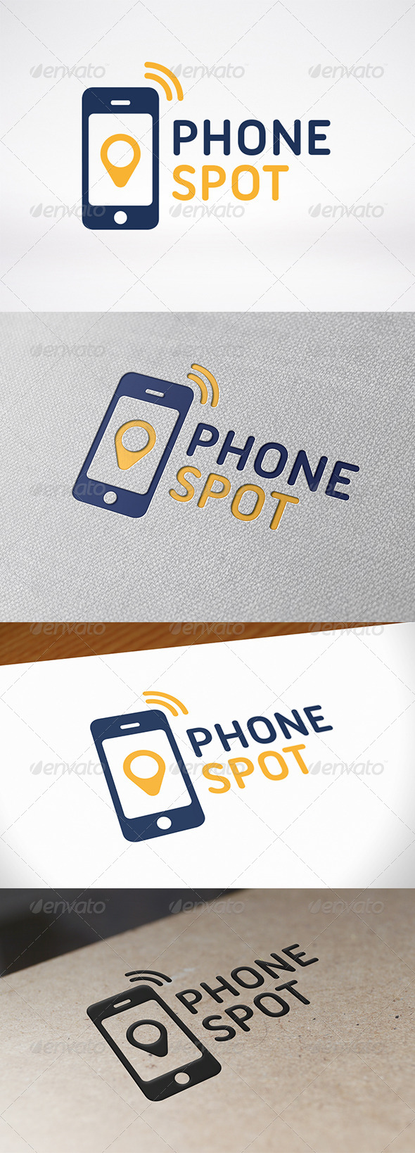 Phone Locator Logo Template - Objects Logo Templates