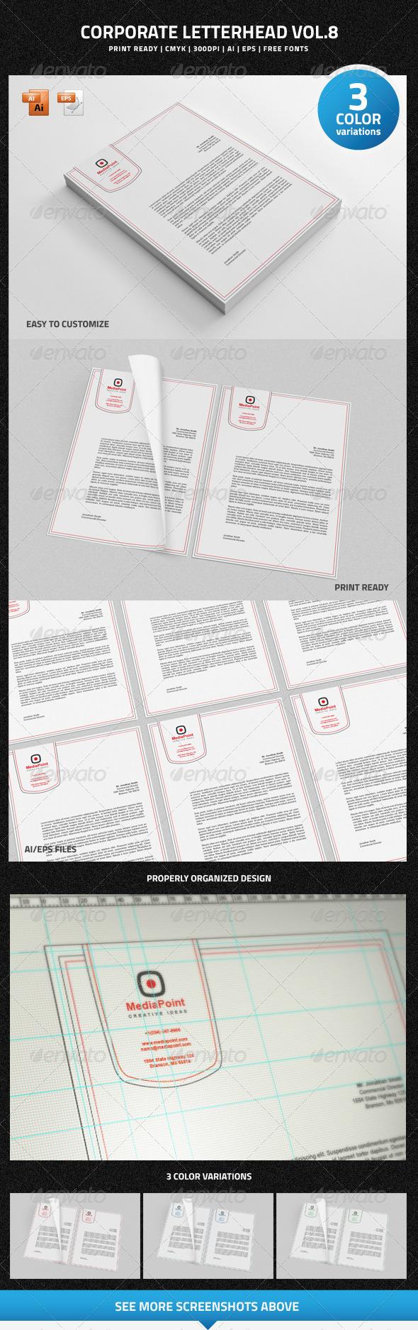 Corporate Letterhead vol.8 - Stationery Print Templates