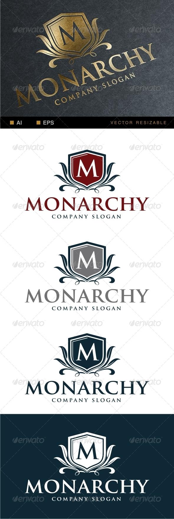 Monarchy Logo Template - Crests Logo Templates